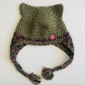 Little Illussions Hand knitted woolen Beanie hat